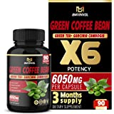 Green Coffee Bean Extract Capsules 6050mg - Enhanced with Garcinia Cambogia, Green Tea and Others - Antioxidant Supplement, M