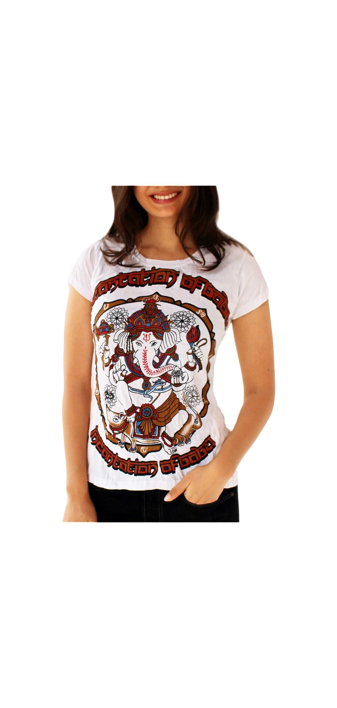 Women's Casual Ganesh Graphic T-shirt