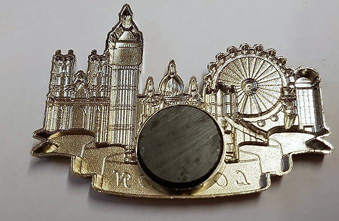 Imán para nevera de metal de Londres, recuerdo - color plateado ...