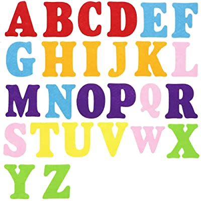 Felt Alphabet Letters for Kids, A-Z Uppercase (52 Pack): Arts, Crafts & Sewing