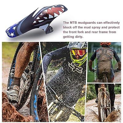 2x MTB Bicycle Splash Fender Guard Rear Front Mudguard for 20-26 inch Bike 7E