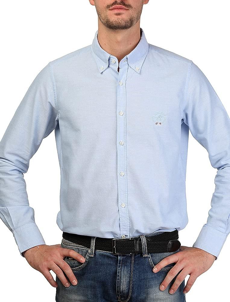 Royal Polo camisa hombre OXFORD azul - hombre - 40: Amazon.es ...