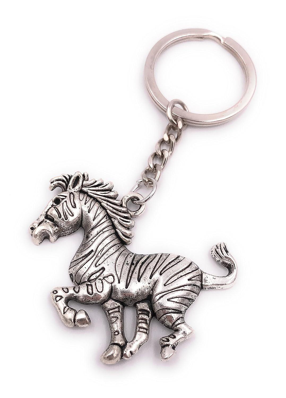 H-Customs Zebra Running galopante Llavero Colgante Plata ...