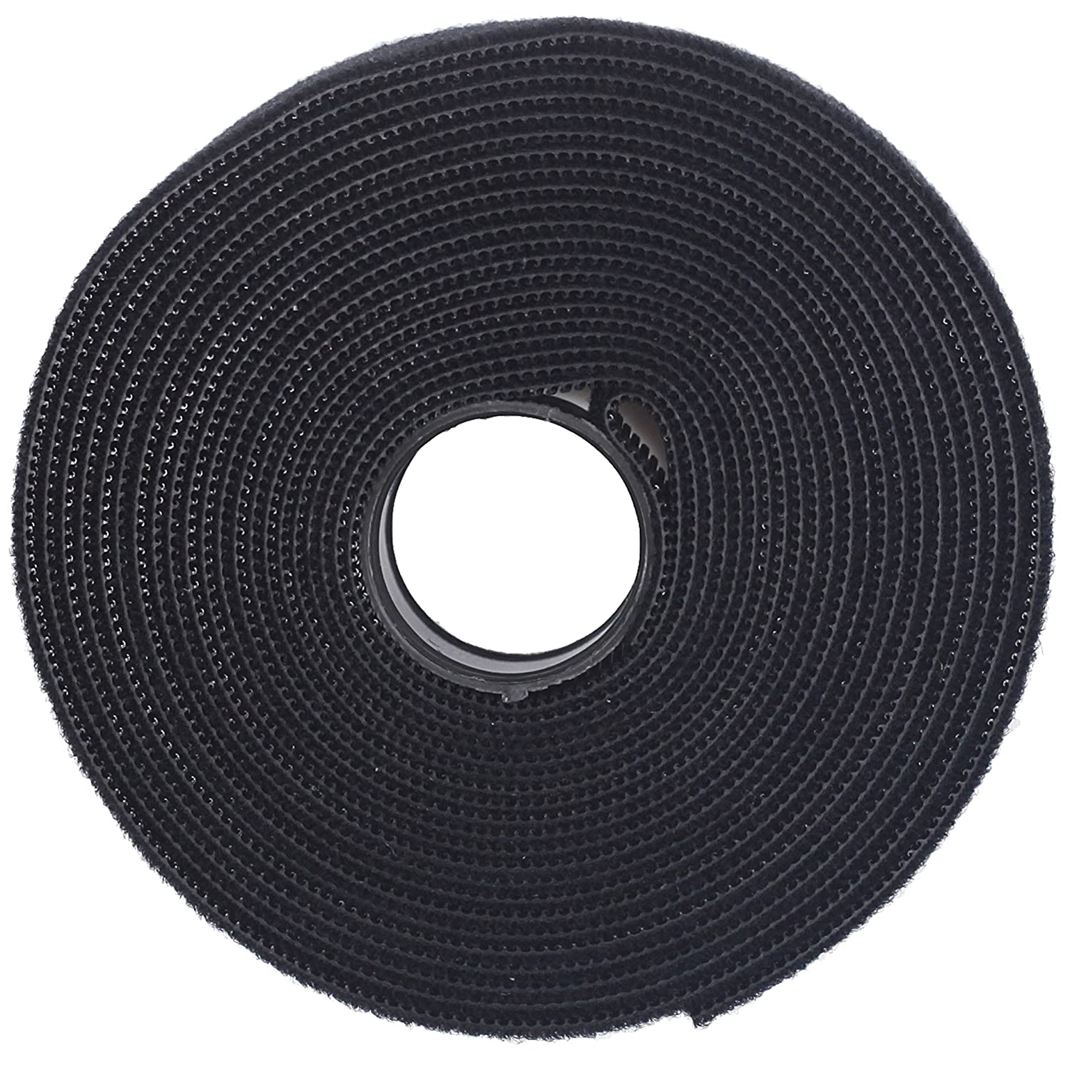2534c98d6b1 Amazon.com  Nylon Cable Tie Roll (3 4 Inch x 5 Yards) Black - Reusable  Nylon Strap - Double Side Hook   Loop - Power Cords Wires Management - One  Wrap ...