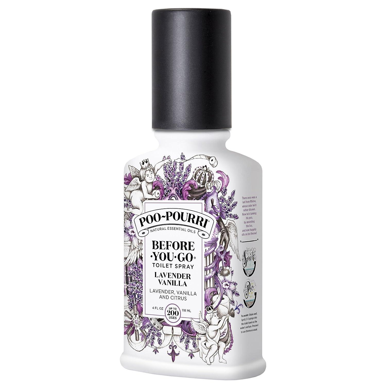 Poo-Pourri Before-You-Go Toilet Spray 4 oz Bottle, Lavender Vanilla Scent