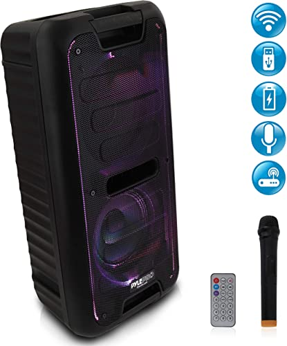 Wireless Portable PA Speaker System - 360W Bluetooth Compatible Battery Powered