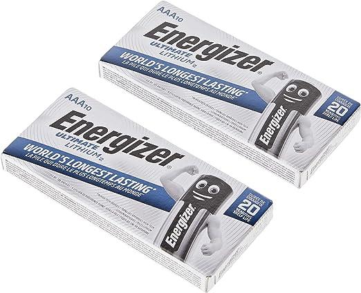 Energizer Ultimate Lithium Aaa Size Batteries 20 Elektronik
