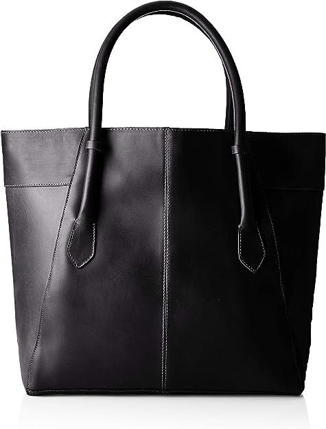 PIECES Damen Pctamela Leather Shopper Schultertasche, 12x34x45 cm
