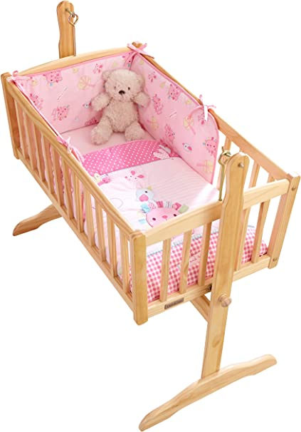 Cot Bed Quilt and Bumper Set NEW Clair De Lune Lottie and Squeek Pink Cot