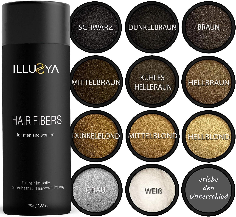 ILLUSYA® Hair Fiber - Caída del cabello - Fibras capilares para el ...