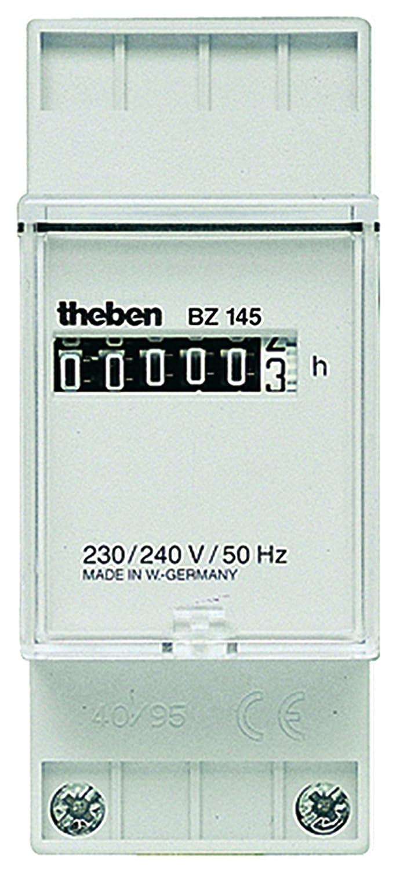 Theben 1450000 BZ 145 230V Reiheneinbau-Betriebsstundenz/ähler 2 TLE