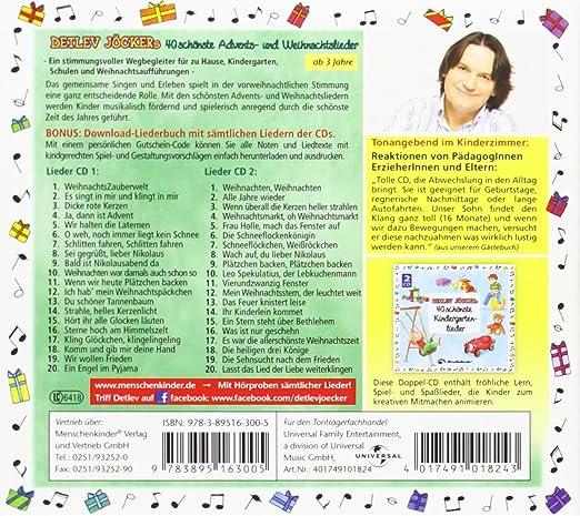 Moderne Weihnachtslieder Kindergarten.Detlev Jöckers 40 Schönste Advents Und Weihnachtslieder Inkl Liederbuch Download