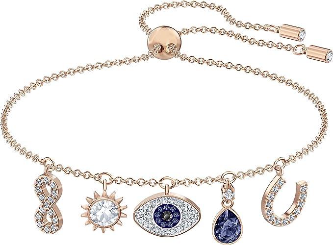 Swarovski Women's Symbolic Charm Bracelet, Brilliant White and ...