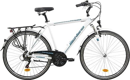 F.lli Schiano Voyager Bicicleta Trekking, Mens, Blanco-Azul, 28 ...