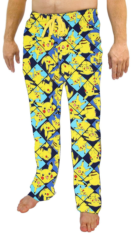 Bioworld Pokemon Pikachu All Over Print Men's Sleep Pants