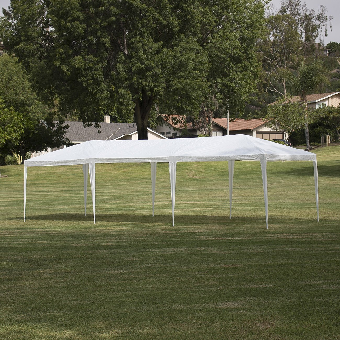 Charmant Amazon.com: Belleze Large Party Outdoor Wedding Pop Up Canopy | 10u0027 X 30u0027  Foot Gazebo White | UV Resistant Pop Up Tent | Push Up: Garden U0026 Outdoor