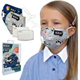 BEOLA Washable Face Kids Mask Non Medical Reusable Cotton With Valve Filter For Children (Jane 2 pcs)