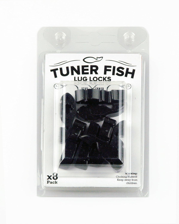 Tuner Fish TFBKS8 - Bloqueo para tornillo de afinación para batería, pack de 8, color negro