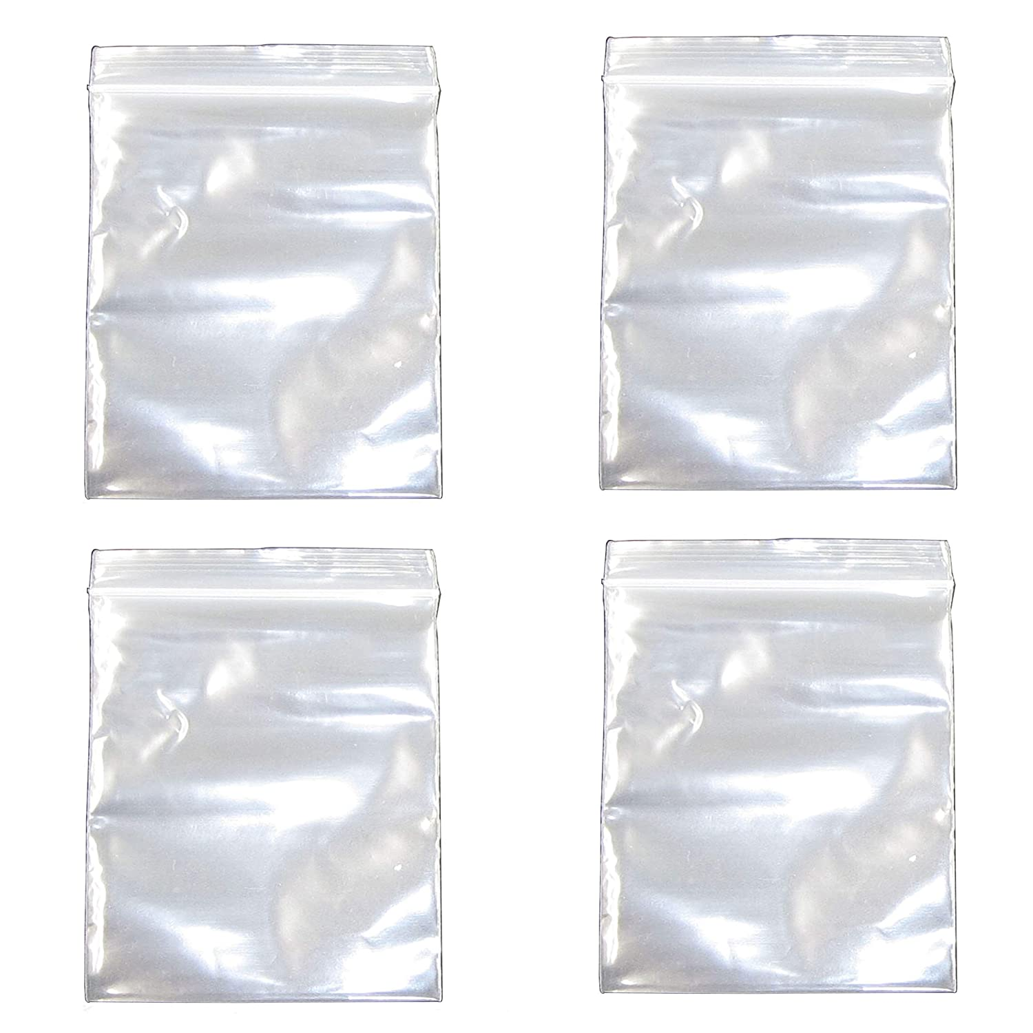 2.3x3.5 Inch, 400 Pack, Small Clear Resealable Zipper Poly Bags 2 Mil Thick, Food Grade Safe Reclosable Zipper Storage Plastic Bags for Jewelry,Candy,Beads etc JBingGG