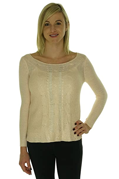 3bebcff27f7a Maison Jules Long-Sleeve Metallic-Flecked Foiled Sweater
