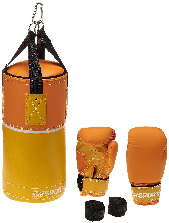 ScSPORTS DG01 Box-Set para niños Guantes de Boxeo Saco de Boxeo con 3 kg de Piel sintética 6-10 años 10000271