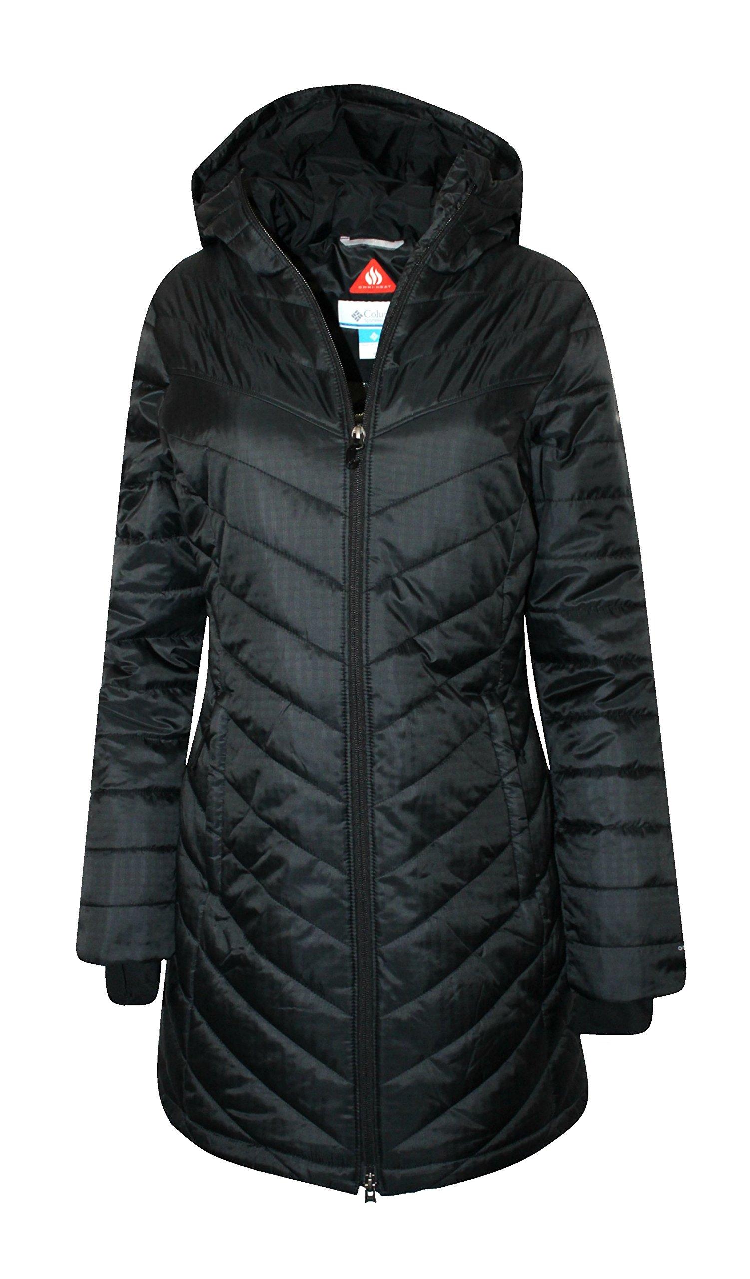 Columbia Women's Morning Light II Omni Heat Long Jacket Coat Puffer, BLACK (M)