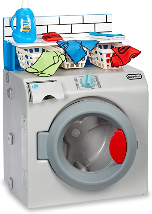 Little Tikes First Washer-Dryer Realistic Pretend Play Appliance for Kids, Multicolor