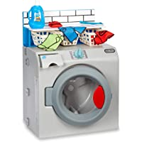 Little Tikes First Washer Dryer - Realistic Pretend Play Appliance for Kids, Interactive Toy Washing Machine with 11…