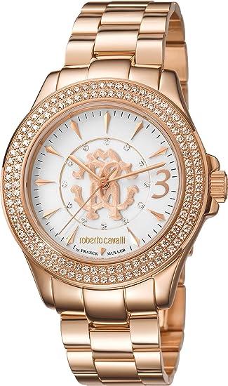 77465649e69d Reloj mujer - Roberto Cavalli by Franck Muller - Modle rv1l002 m0121   Amazon.es  Relojes