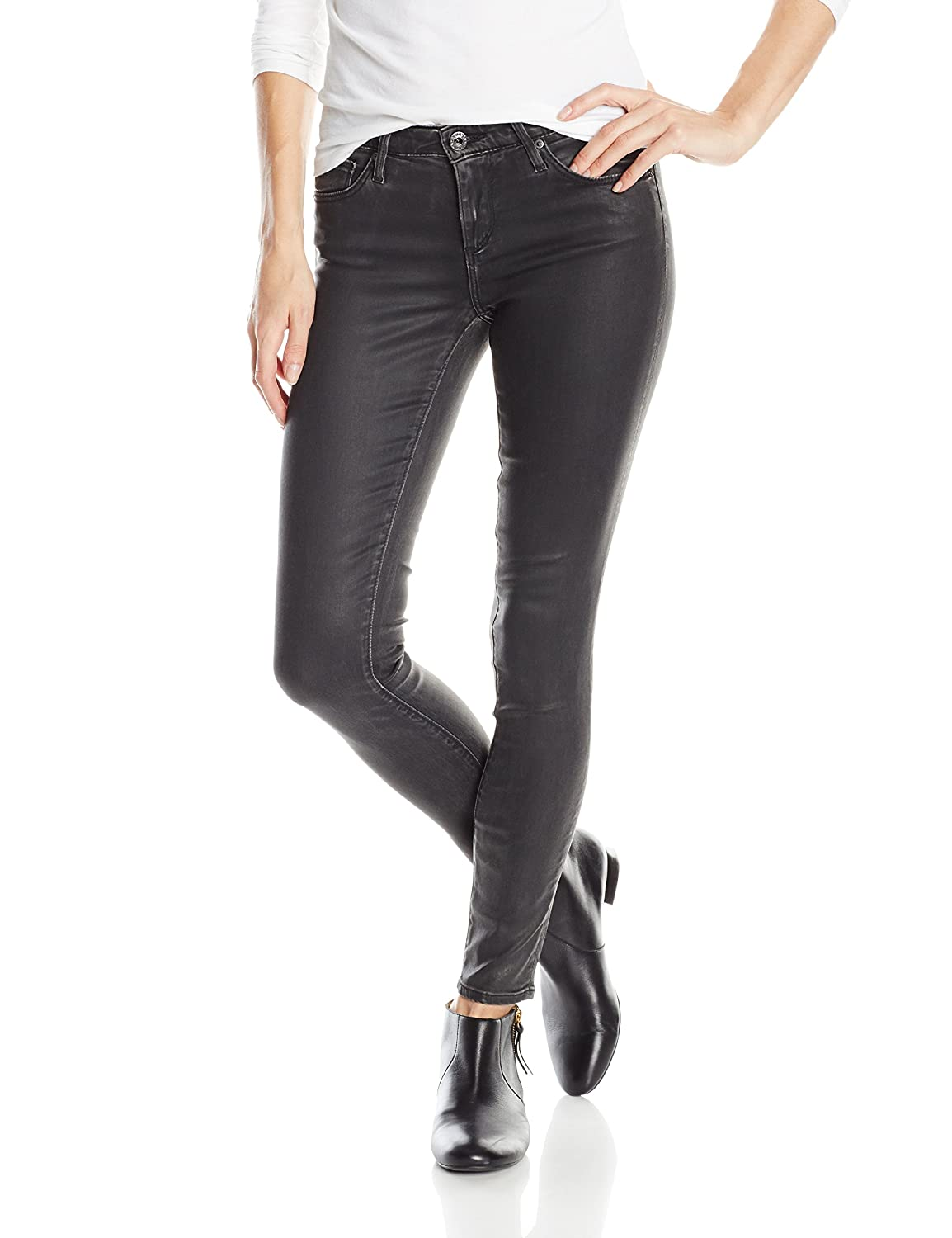 Vintage Leatherette Light Black AG Adriano goldschmied Women's The Legging Ankle Jean