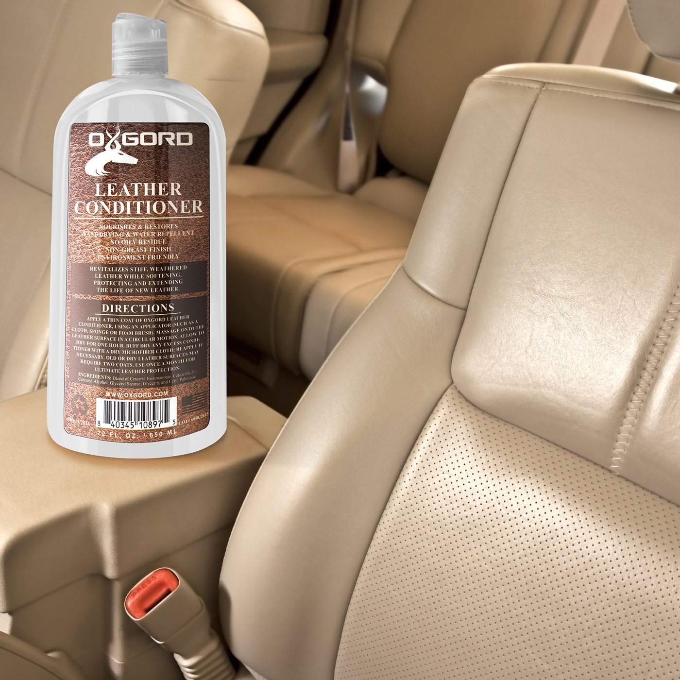 Amazon.com: Leather Conditioner - 22oz Kit Restores Leather Vinyl Surface  Lotion Cleaner Protector Moisturizer Care Treatment for Car Seat Furniture  Shoe ...