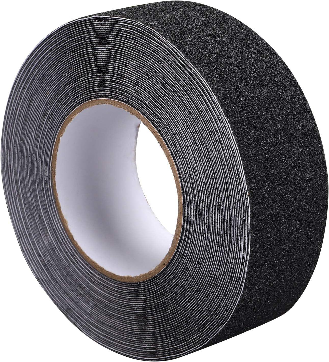 seguridad mejor agarre escal/ón de rodadura cinta antideslizante exterior, de alta tracci/ón fricci/ón 10 cm x 5 m no deja residuos adhesivos f/áciles interior adhesivo abrasivo para escaleras