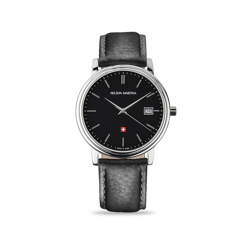 * Neu | Nelson Martina Classic Silver 306 | Saphirglas | Swiss Made