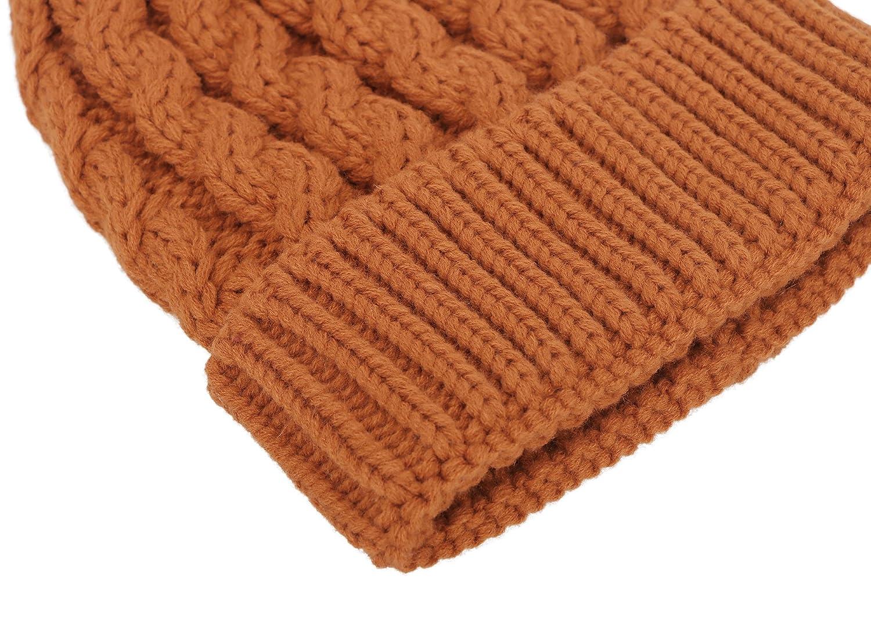 Winter Wonderland Splash Patterned Thick Knit Fleece Lined Snow Beanie Hats