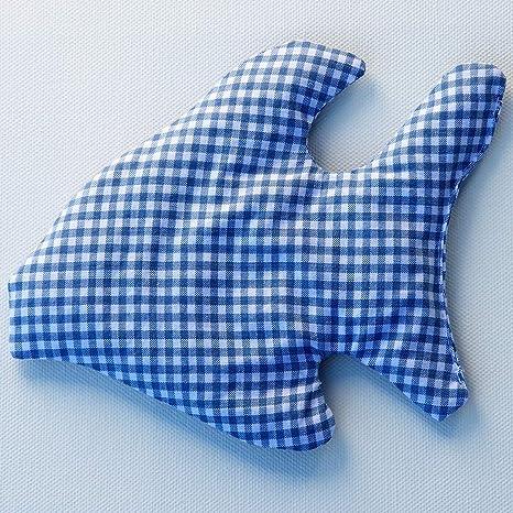 Cojín de calor con diseño de pez en cuadros azules; cojín de ...