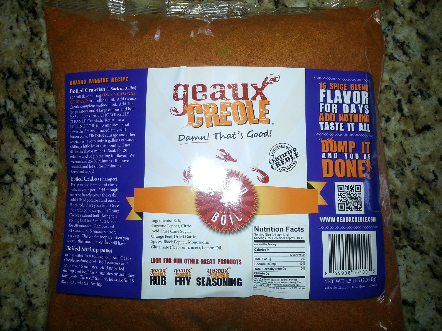 Geaux Creole Seafood Boil, 4.5lbs by Geaux Creole