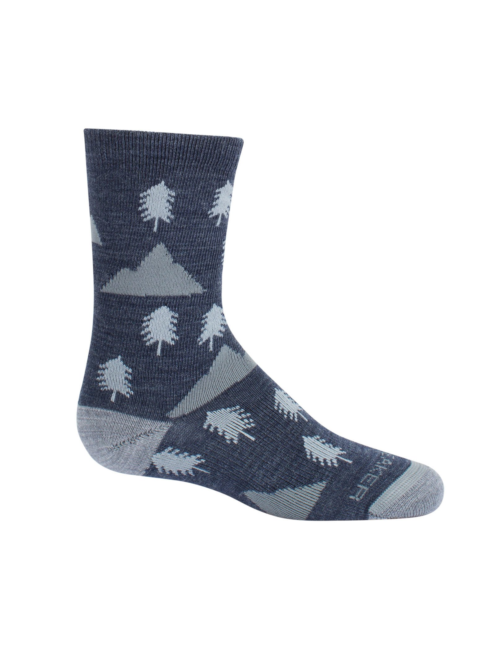 Icebreaker Kids Lifestyle Ultra Light Crew Woodsy Walk with a Helicase Sock Ring; Size: Large - Fathom HTHR