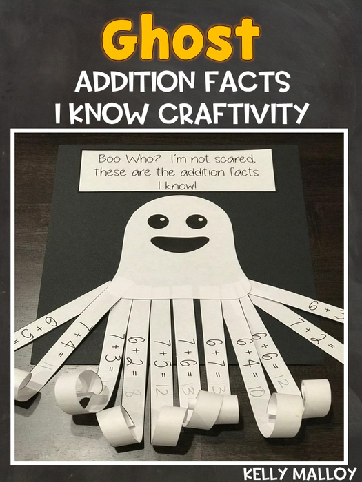 Halloween Projects Printable (Ghost Addition Facts I Know)