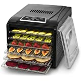 Gourmia GFD1650 Premium Electric Food Dehydrator Machine - Digital Timer and Temperature Control - 6 Drying Trays - Perfect f