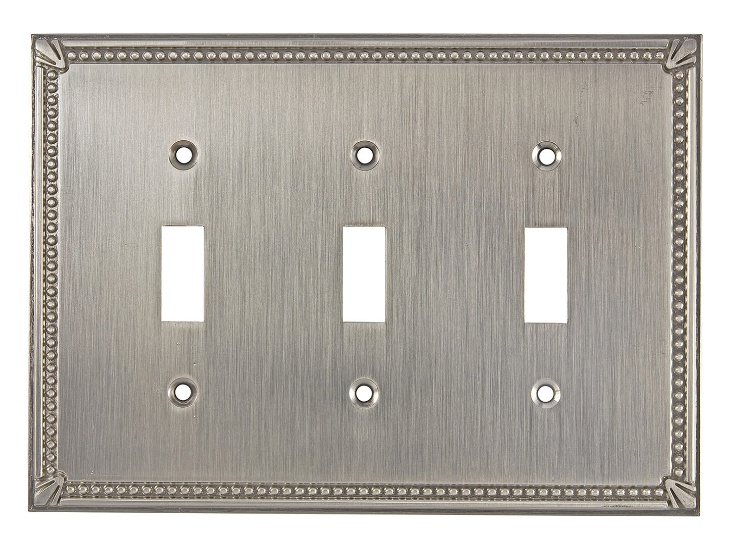 Brushed Oil-Rubbed Bronze 4.84 BP86333BORB Richelieu Hardware Traditional Style 3 Toggle Entries Switch Plate 4.84