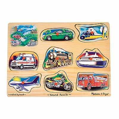 Melissa & Doug Vehicle Sound Puzzle: Melissa & Doug: Toys & Games