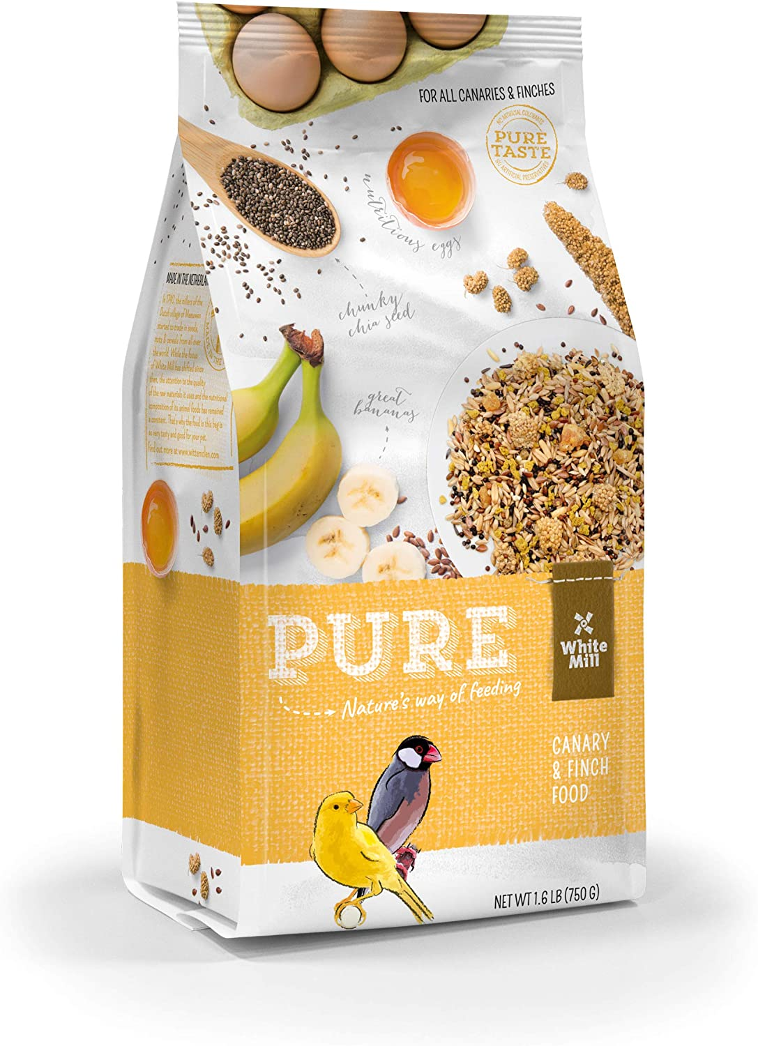 Witte Molen Pure Treat Stick Apple, Pear, Egg Pure Gourmet Seed Sticks and Gourmet Seed Mixture with chia (Yellow-Coated Canary, Goldfinch, Zebra Finch)
