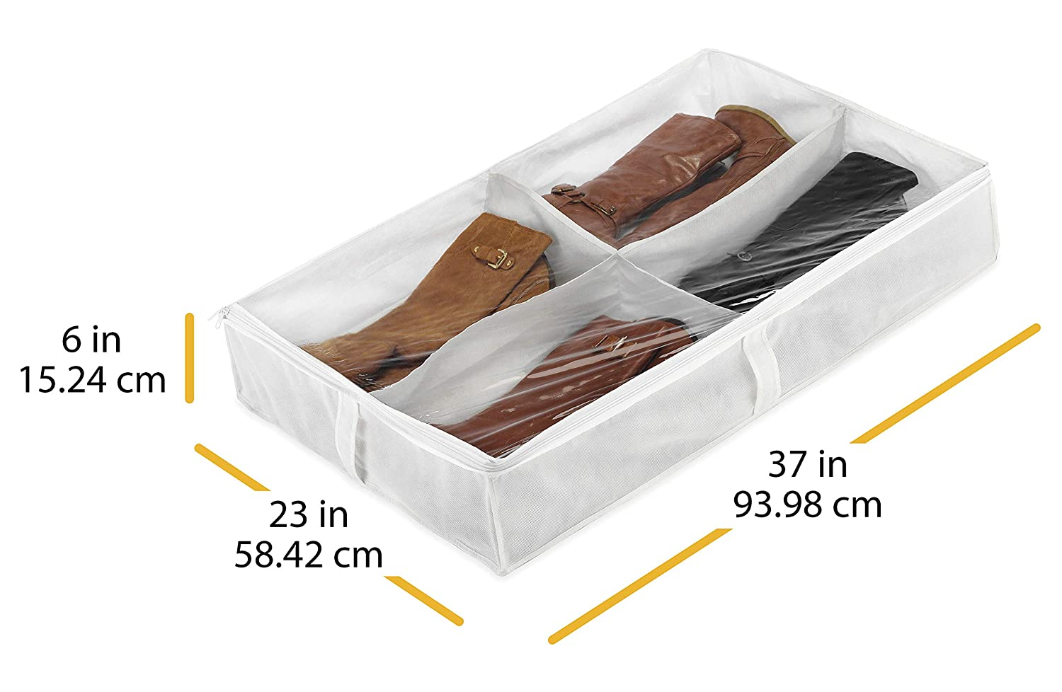 Whitmor Underbed Boot Bag 4 Section