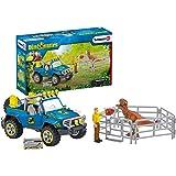 SCHLEICH Dinosaur Toy Truck with Dino Outpost & Giganotosaurus 15- Piece Playset for Kids Ages 4-13