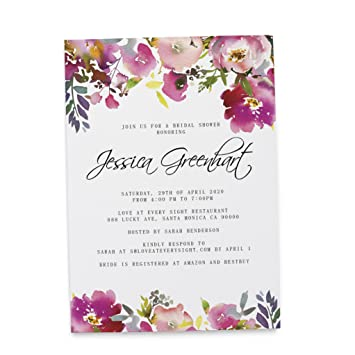 Amazon Com Bride To Be Invitation Card Bridal Shower Gift Giving