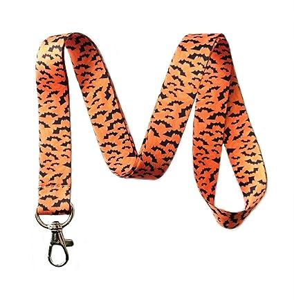 halloween bats print lanyard key chain id badge holder amazon in