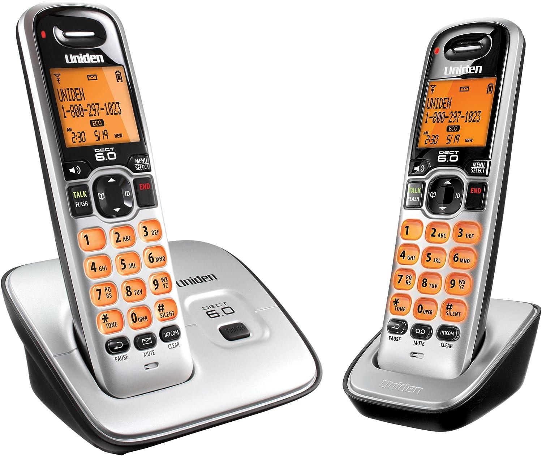 Uniden D1660-2 DECT6.0 Caller ID Cordless handset with 2 handsets