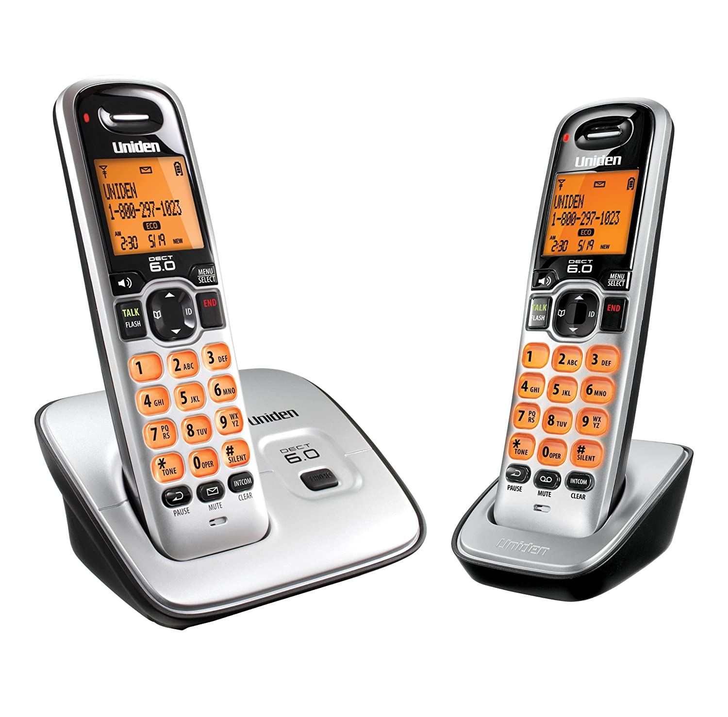 Amazon.com : Uniden D1660-3 DECT6.0 Caller ID Cordless handset with 3  handsets : Electronics