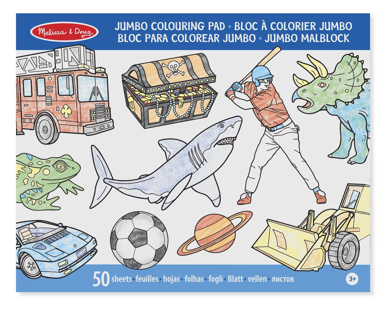 Melissa & Doug Blue Colouring Pad: Amazon.co.uk: Toys & Games