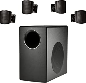 JBL Professional Surface Mount Subwoofer & Mini-Satellite Loudspeaker System, Black (C50PACK), White (JBL C50 Pack)
